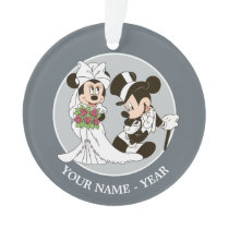 Mickey & Minnie Wedding   Getting Married Ornament