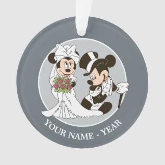 Mickey & Minnie Wedding | Getting Married Ornament