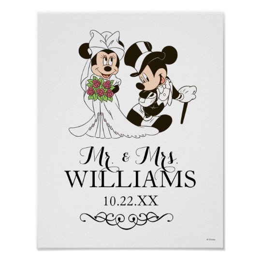 Mickey And Minnie Wedding.Mickey Minnie Wedding Getting Married Poster
