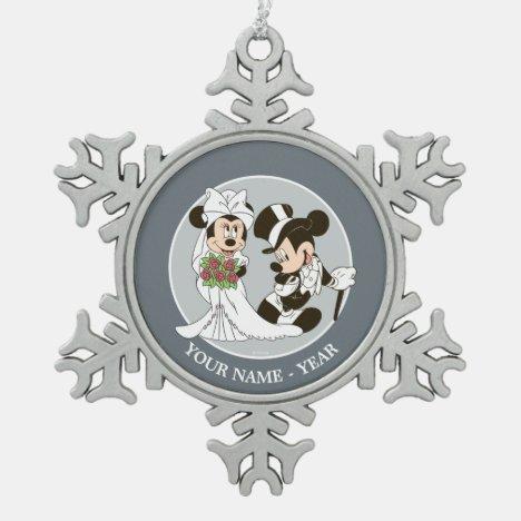 Snowflake Pewter Christmas Ornament