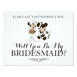 Mickey & Minnie Wedding | Married Bridesmaid Card