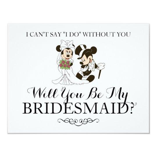 Mickey And Minnie Wedding.Mickey Minnie Wedding Married Bridesmaid Invitation