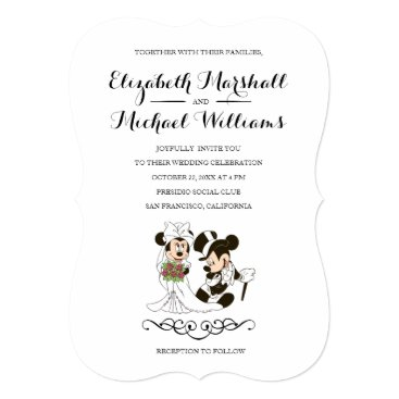 disney Mickey & Minnie Wedding | Married Invitation