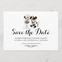 Mickey & Minnie Wedding | Married Save the Date