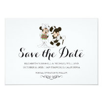 Mickey & Minnie Wedding | Married Save the Date Card