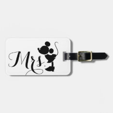 Mickey & Minnie Wedding | Mrs. Silhouette Bag Tag at Zazzle