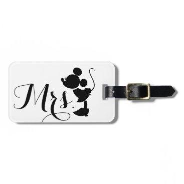 disney Mickey & Minnie Wedding | Mrs. Silhouette Bag Tag
