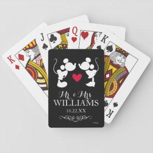 Mickey & Minnie Wedding Playing Cards at Zazzle