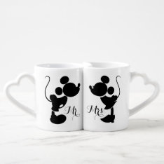 Mickey & Minnie Wedding | Silhouette Coffee Mug Set at Zazzle