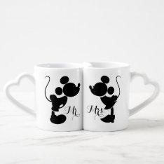 Mickey & Minnie Wedding | Silhouette Coffee Mug Set at Zazzle