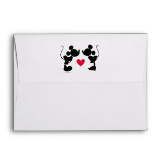 Mickey & Minnie Wedding | Silhouette Envelope