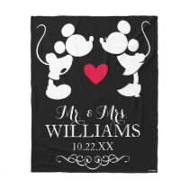 Mickey & Minnie Wedding | Silhouette Fleece Blanket
