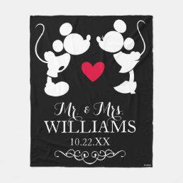 Mickey & Minnie Wedding | Silhouette Fleece Blanket