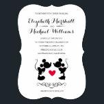 "Mickey &amp; Minnie Wedding   Silhouette Invitation<br><div class=""desc"">Mickey &amp; Minnie Wedding   Silhouette Invitation Card</div>"