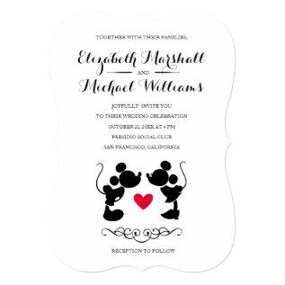 Mickey & Minnie Wedding | Silhouette Invitation at Zazzle