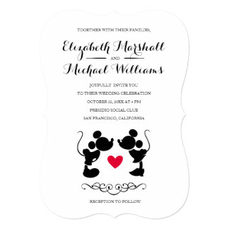 Find customizable Disney Wedding invitations & announcements of all sizes. Pick your favorite invitation design from our amazing selection.
