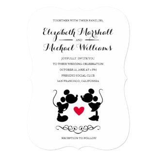 Mickey U0026amp; Minnie Wedding | Silhouette Invitation