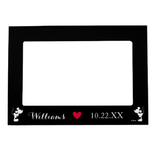 Mickey & Minnie Wedding | Silhouette Magnetic Picture Frame
