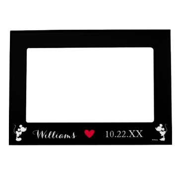 disney Mickey & Minnie Wedding | Silhouette Magnetic Picture Frame