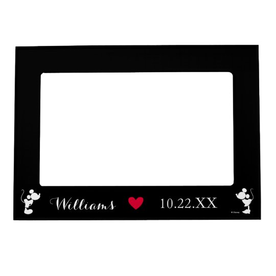 Mickey Minnie Wedding Silhouette Magnetic Picture Frame Zazzlecom