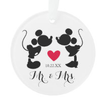 Mickey & Minnie Wedding | Silhouette Ornament