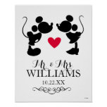 Mickey & Minnie Wedding | Silhouette Poster