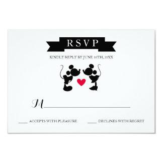 Mickey & Minnie Wedding | Silhouette RSVP Card