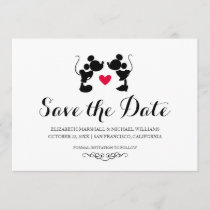 Mickey & Minnie Wedding | Silhouette Save the Date