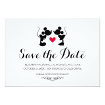Mickey & Minnie Wedding | Silhouette Save the Date Card