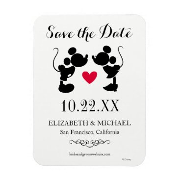 Disney Themed Mickey & Minnie Wedding | Silhouette Save the Date Magnet