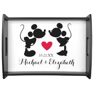 Mickey & Minnie Wedding   Silhouette Serving Tray