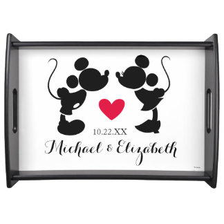 Mickey & Minnie Wedding | Silhouette Serving Tray