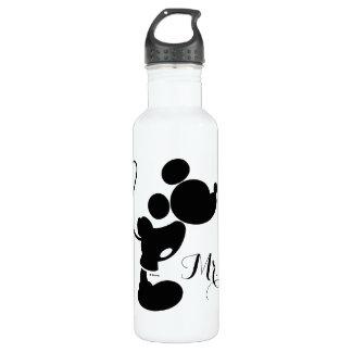 Mickey & Minnie Wedding | Silhouette Stainless Steel Water Bottle