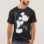 "Mickey &amp; Minnie Wedding | Silhouette T-Shirt<br><div class=""desc"">Mickey &amp; Minnie Silhouette Wedding</div>"