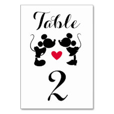 Mickey & Minnie Wedding | Silhouette Table Number