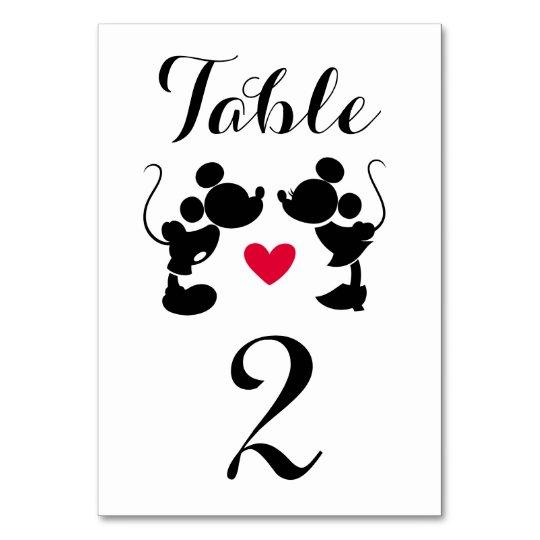 Mickey minnie wedding silhouette table number zazzle mickey minnie wedding silhouette table number junglespirit Gallery