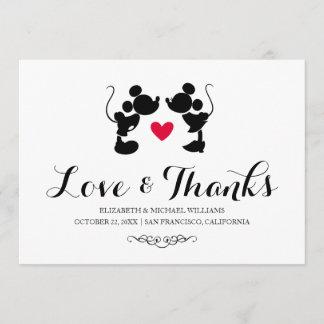 Mickey & Minnie Wedding   Silhouette Thank You