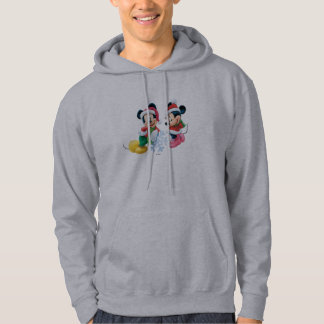Mickey & Minnie With Snowflake Hoodie