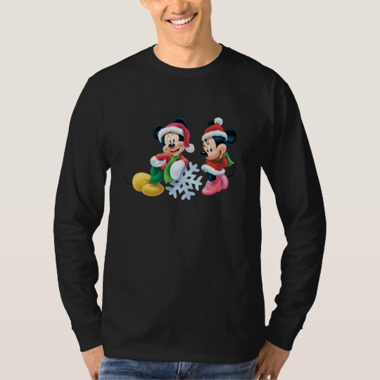 Mickey & Minnie With Snowflake T-Shirt