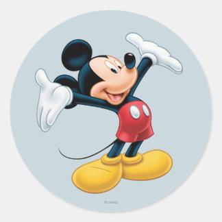 Mickey moderno el   Airbrushed Pegatina Redonda