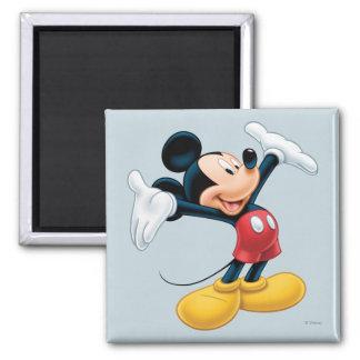 Mickey moderno el | arma hacia fuera imán cuadrado