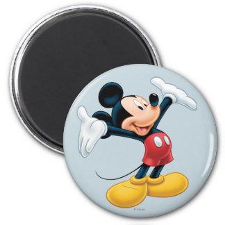 Mickey moderno el | arma hacia fuera imán redondo 5 cm