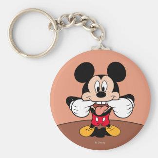 Mickey moderno el | que pega hacia fuera la lengua llavero redondo tipo pin