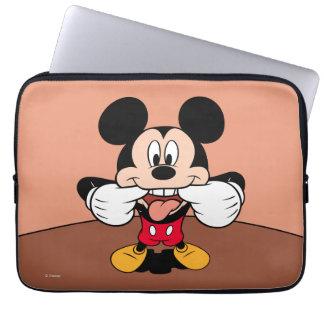Mickey moderno el | que pega hacia fuera la lengua mangas portátiles