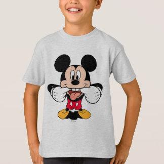 Mickey moderno el | que pega hacia fuera la lengua playera