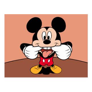 Mickey moderno el | que pega hacia fuera la lengua tarjetas postales