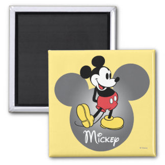 Mickey Mouse 12 Imán Cuadrado