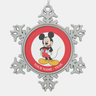 Mickey Mouse 1 Adorno De Peltre En Forma De Copo De Nieve
