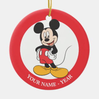 Mickey Mouse 1 Double-Sided Ceramic Round Christmas Ornament