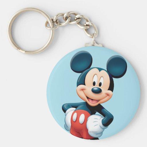 Mickey Mouse 6 Llavero Redondo Tipo Pin